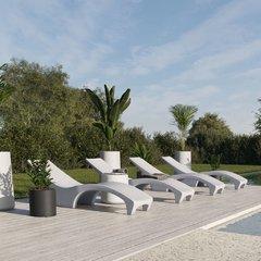 Reposera de plastico Amalfi color Blanco - comprar online