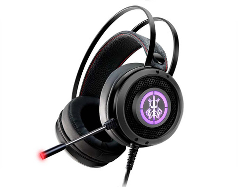 HEADSET GAMER KMEX AR50 PRETO COM LED