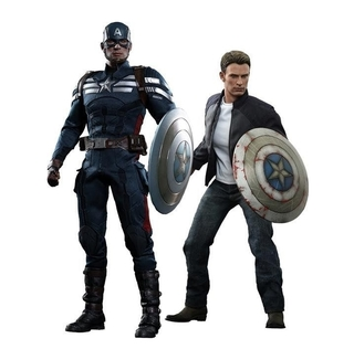 Captain America and Steve Rogers 1/6 Figure - HOT TOYS