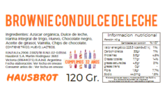 Ingredientes y Tabla Nutricional Brownie hausbrot