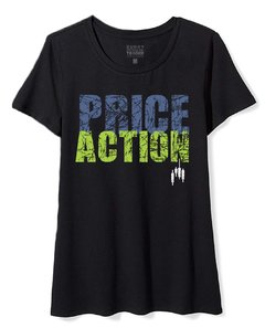 Camiseta Feminina Baby Look Long Price Action Crew