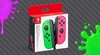 JOYCONS ROSA Y VERDE SWITCH