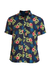 Camisa Areia Branca Slim Fit Floral Honolulu Estampada