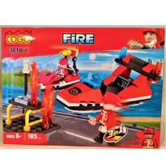 Bloque COGO Fire Fighter Bombero 3 en 1, 105 Piezas Art 3018-4 en internet