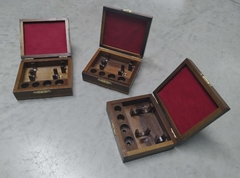 Image of Wooden case for two trumpet mouthpieces