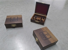 Wooden case for two trumpet mouthpieces - online store