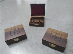 Wooden case for two trumpet mouthpieces on internet