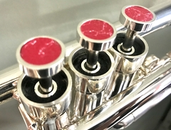 Buttons for Trumpet - Silver Plated with Red
