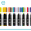 Kit com 48 cores - Caneta Marcador CiS Brush na internet
