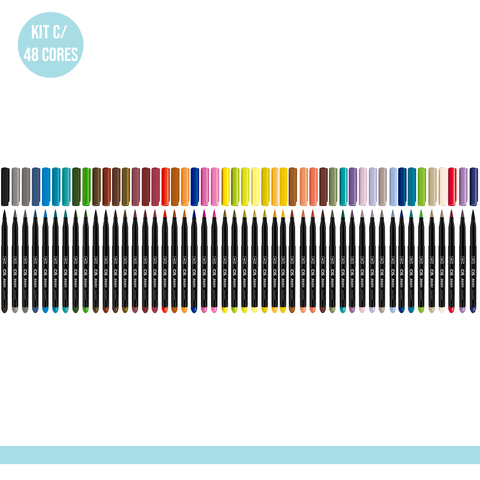 Kit com 48 cores - Caneta Marcador CiS Brush